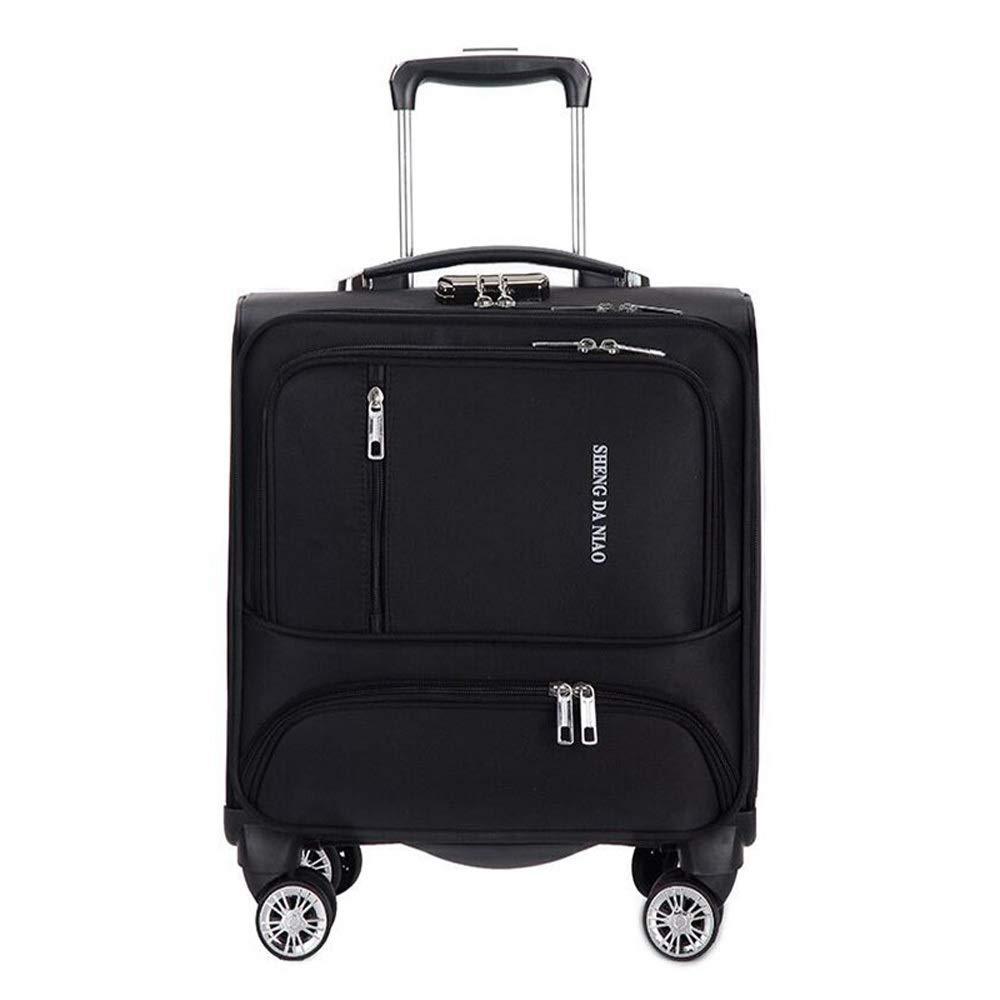 ホイール付き旅行スーツケースローリング荷物スピナートロリーケース18インチ搭乗用ラップトップバッグ女性機内持ち込み荷物トラベルバッグ B07SX73R9D