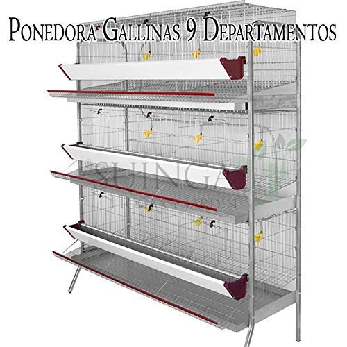 Suinga Bateria GALLINAS PONEDORAS 9 departamentos. Capacidad 45 ...