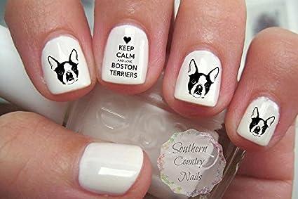 Boston Terrier Nail Art Decals