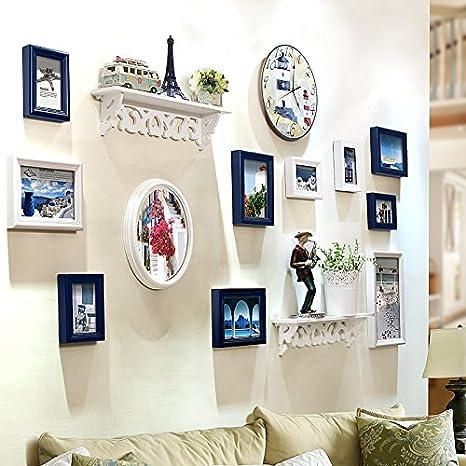 Marco de fotos HJKY Pared Conjunto El restaurante es pequeño salón continental de pared Pared fotografía creativa el bastidor de montaje en pared de ...