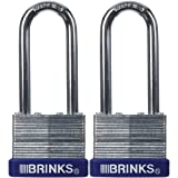 Keeper Brinks 172-42201 40mm Laminated Steel Padlock with 2-1/4 Shackle, 2 Pack