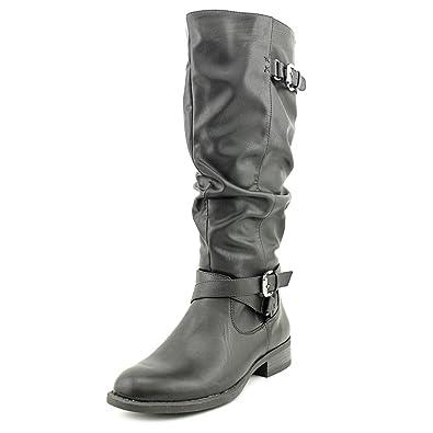 White Mountain Women's Latara Black Smooth Boot