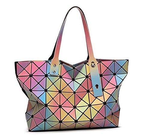 de color Verano Bolso Bolso hombro Rainbow geométrico Messenger rainbow Bolso iris Bags mujer de de arco de mujer nq7xn8wZPH