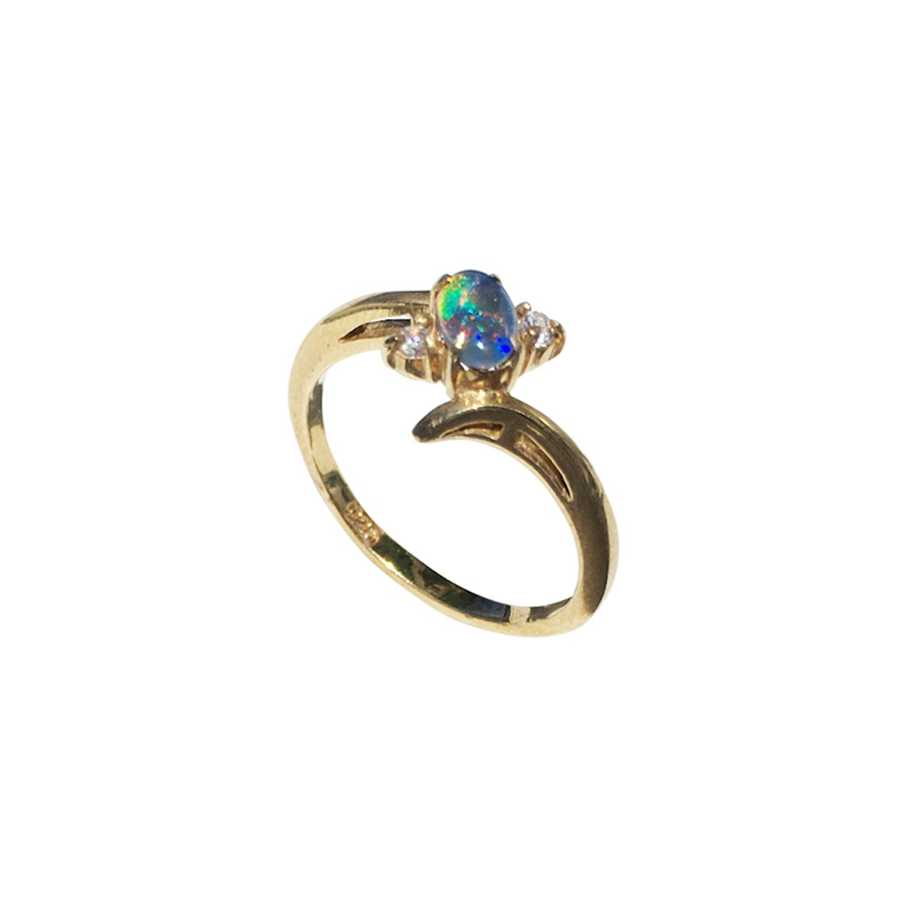 EASY TO LOVE TOO 18KT GOLD PLATED OPAL RING