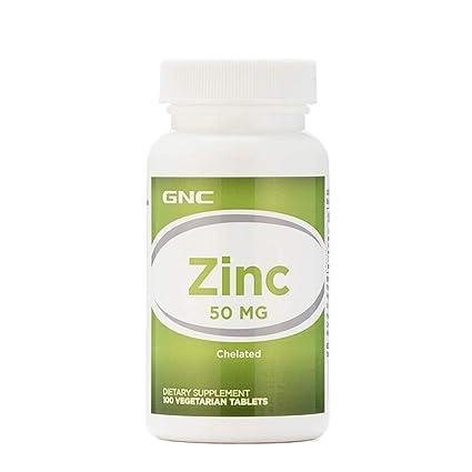 Buy Gnc Zinc 50 Mg A Dietary Supplement 100 Vegetarain Tablets