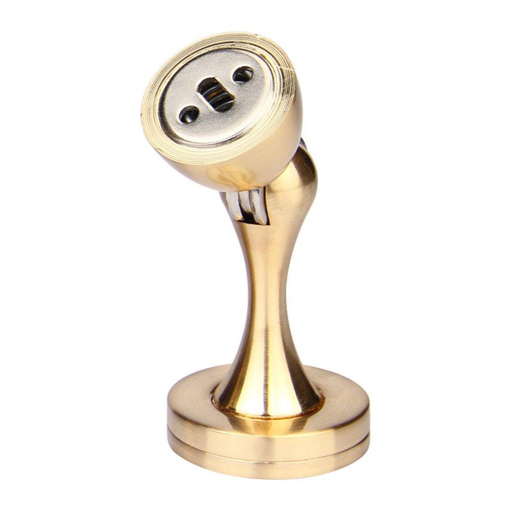 Door Stopper, Leagway Premium Zinc Alloy Magnetic Door Stop Catch, Heavy Duty Home Office Hotel Doorstop Door Holder Hardware Wall Protetor with Catch Stand Screw Kit (Gold)