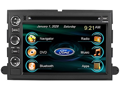 550 Dash Designs (2005-2012 Ford F-250 F-350 F-450 F-550 In-dash DVD GPS Navigation Stereo Bluetooth Hands-free Steering Wheel Controls Touch Screen iPod iPhone-Ready Deck AV Receiver CD Player Stereo Video Audio NAVI Radio Square-S SS-9080FX w/ Digital TV Rear View Camera Option OEM Replacement)