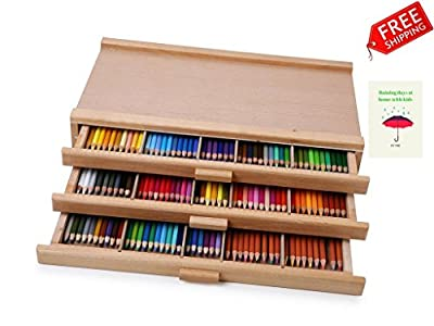 3 Drawers Box Art Storage Wood Arts And Crafts Storage Drawer , Sturdy Design Suitable For Charcoal, Pastels, Pencils, Drawing Tools And Much More And Ebook By TSR