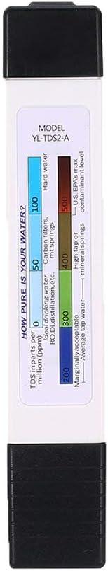 Farbe: rot Garciadia Multifunktions Tds Wasserqualit/ät Teststift Ec Wei/ß Mit Gr/üner Hintergrundbeleuchtung Wassermessger/ät Leitf/ähigkeitstester