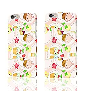 Fashion Personalized Birthday Cakes with Flower and Heart Fuuny Printed Photo Plastic Hard Customized Personalized 3D Case For iPhone 6 Plus - 5.5 inches by icecream design
