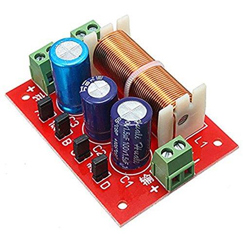 2088 400W Adjustable 2 Way Filters 2 Unit Audio Speaker Frequency Divider Full Range Treble Bass - Arduino Compatible SCM & DIY Kits Module Board- 1 x Y61 Camera ()