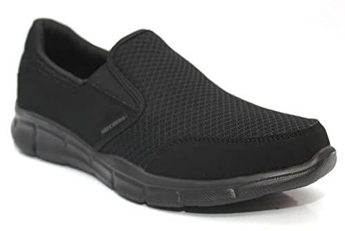 Skechers - Mocasines de Material Sintético para hombre Negro negro, color Negro, talla 43: Amazon.es: Zapatos y complementos