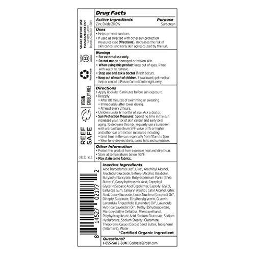 Goddess Garden Sport SPF 50 Mineral Sunscreen Lotion for Sensitive Skin (3.4 oz....