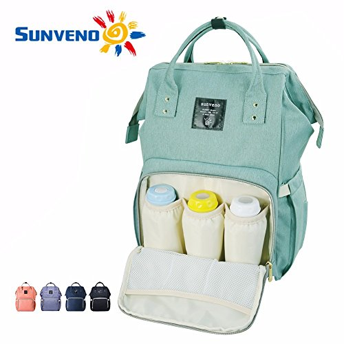 sunveno-mummy-backpack-baby-diaper-nappy-changing-handbag-green