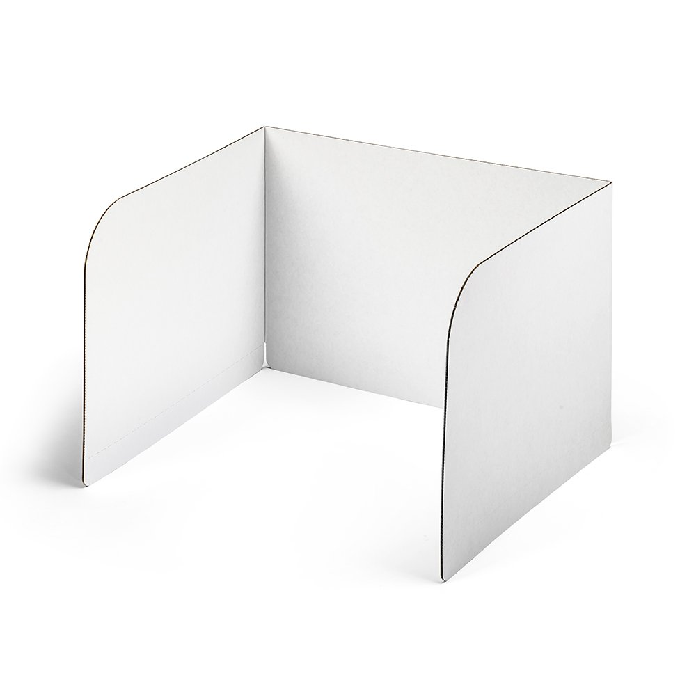 Classroom Products Privacy Shield 13 Inch Tall - White - (Pack of 20)