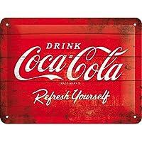 Nostalgic-Art Cartel de Chapa 15x20 -Coca-Cola - Logo