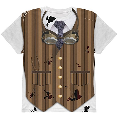 (Halloween Steam Punk Engineer Costume All Over Youth T Shirt Multi)