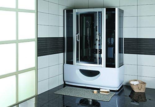 Cabina de ducha Mira 9944 * Vidrio templado de 6 mm de grosor * 8 chorros de masaje de espalda * 11 Bomba de agua boquillas montado en una bañera * ozono