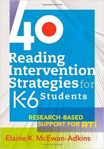 40 Reading Intervention Strategies For K 6