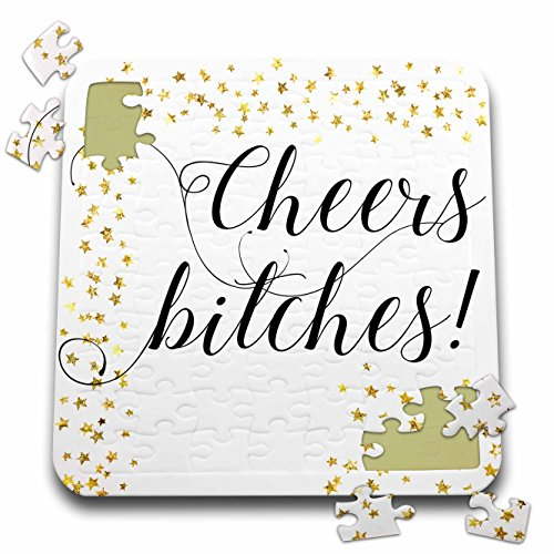Lenas Photos - Wedding - Cheers Bitches - Bachelorette Party - Bachelorette - Holiday Gift - 10x10 Inch Puzzle (pzl_264052_2) by 3dRose