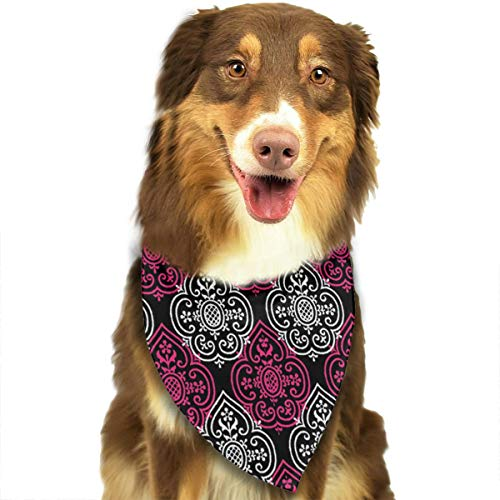 ANYWN Pet Dog Bandanas Lace Medallion Courtesan Triangle Bibs Scarfs Accessories for Puppies Cats Pets Animals Large Size]()