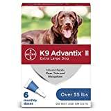 Bayer K9 Advantix II Flea, Tick and Mosquito Prevention for XLarge Dogs, over 55 lbs, 6 doses