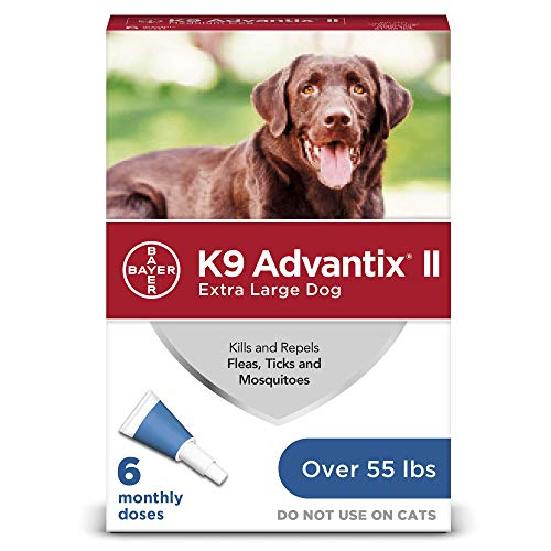 (Flea and tick prevention for dogs, dog flea and tick treatment, 6 doses for dogs over 55 lbs, K9 Advantix)