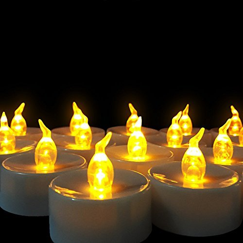 Eco Flameless Candles | Flameless Candles with 24 Yellow LED for Indoor or Outdoor | - Cheapest Online Shopping India