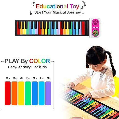 Keyboard Instruments Portable Early Childhood Education Instruments Portable Electronic Piano 49-key Rainbow Hand-rolled Piano RAINBOW KEY / Keyboard Instruments Portable Early Childhood Education Instruments Portable Electronic Pi...