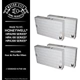 Premium 4PK Honeywell Air Purifier Filters Fit HPA-090, HPA-100, HPA200 & HPA300 Series,Motor City Home Products Replacement