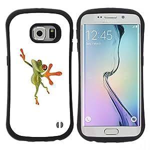"""Pulsar iFace Series Tpu silicona Carcasa Funda Case para Samsung Galaxy S6 EDGE , Bailarín de la bailarina de la rana feliz"""""""