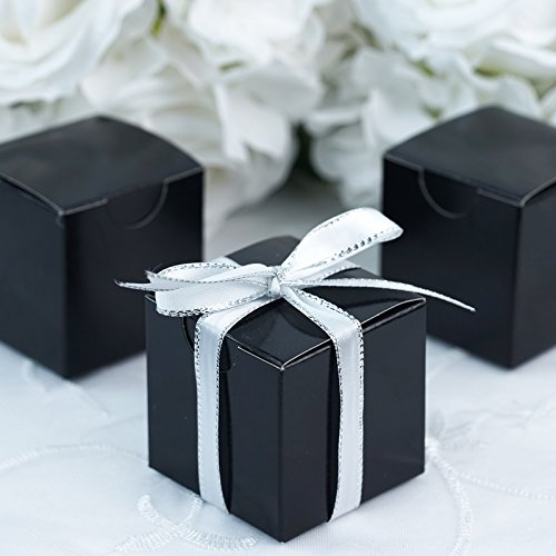 BalsaCircle 100 pcs 2-Inch Black Wedding Favor Boxes