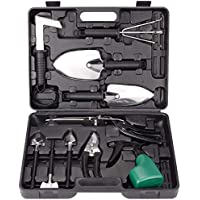 XINHAI 12 Piece Stainless Steel Garden Tool Set with Storage Box