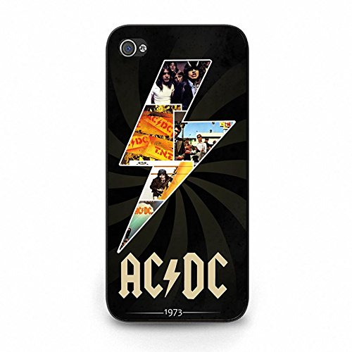 Iphone 5c ACDC Band Cover Shell Unique Shining Lightting Style Hard Music Rock Band Designed AC/DC Phone Case Cover for Iphone 5c