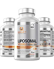 Liposomal Vitamin C 1400mg- 180 Vegan Capsules- China Free Ingredients, Fat Soluble High Absorption VIT C- Supports Healthy Immune System & Collagen Booster- Powerful Antioxidant Support Supplement