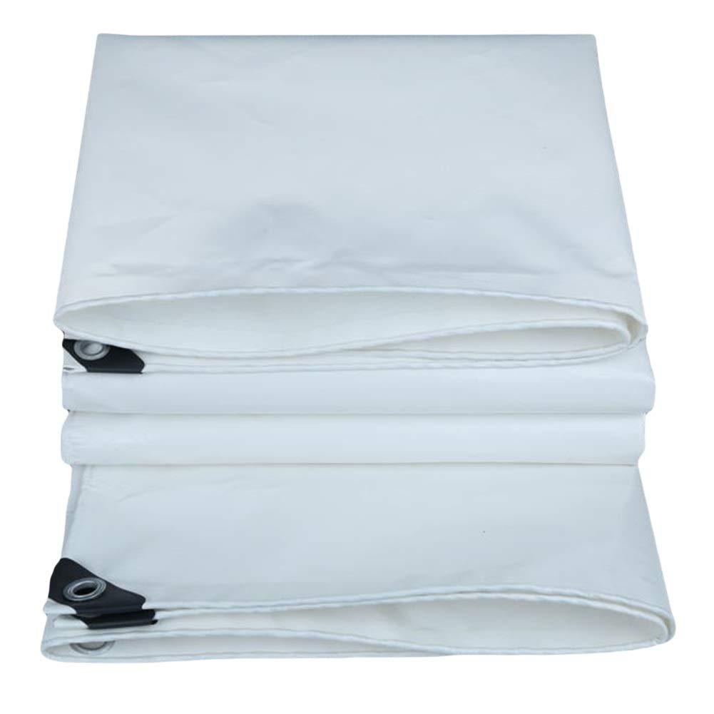 Tissu Blanc d'ombrage au Soleil de PVC, bÂches extérieures intérieures, bÂche de Prougeection Solaire réversible for la Voile d'ombrage d'auvent de Camion 560g   M² (Taille   2m×4m)  2m×4m
