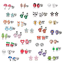 Pack of 30 pairs,Tiny delicate style for girls and kids, and can show a different everyday