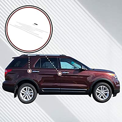 Red Hound Auto Door Edge Lip Guards 2011-2020 Compatible with Ford Explorer 6pc Clear Paint Protector Film Not Universal Pre-Cut Custom Fit: Automotive