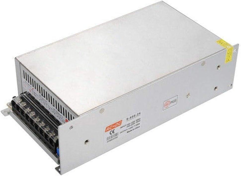HTYJY LEDストリップ用スイッチング電源170V 250Vに24V 25A 600W LEDテープ