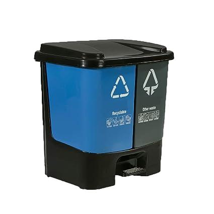 Amazon Com Shatong Pedal Type Plastic Garbage Sorting Trash Can