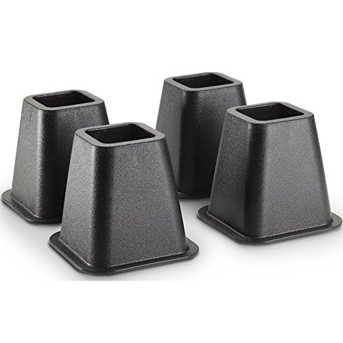 Creative Bath Products GBR11BLK Bed and Furniture Risers (4-Count) (4), - Stores Las Vegas Outlet
