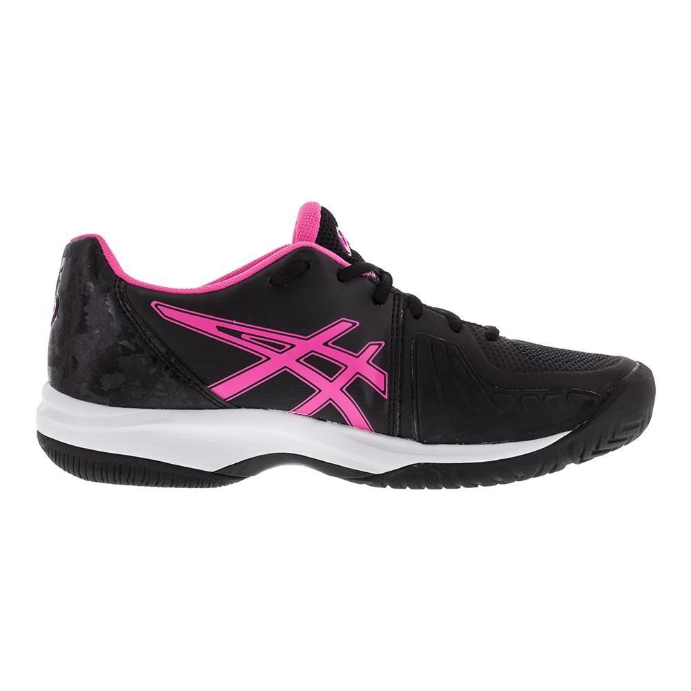 645591aa1 Zapato de velocidad de corte en gel para mujer ASICS E850N Negro   rosa  fuerte   blanco