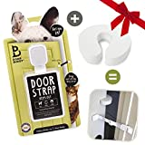 Door Buddy Door Latch Plus Door Stop. Keep Dog Out of Litter Box and Prevent Door from Closing. Easy Cat and Adult Entry. Installs in Seconds. Perfect Pet Gate