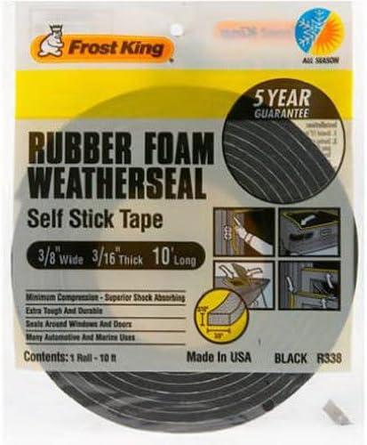3//16T 3//8W Frost King R338H Self-Stick Rubber Foam Weatherseal