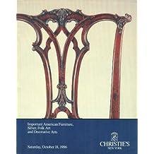 Important American Furniture, Silver, Folk Art and Decorative Arts: Saturday, October 18, 1986 (Sale PENN-6220)