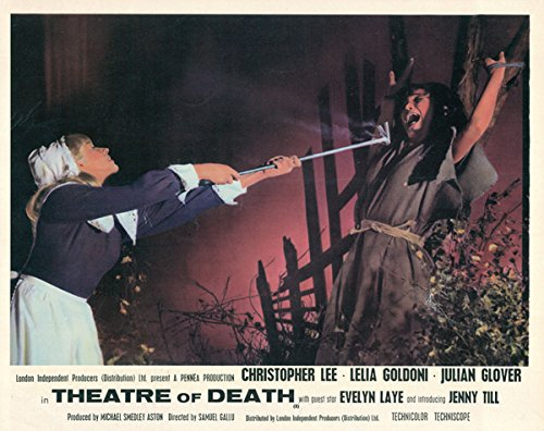 Drama of Death original lobby card Lelia Goldoni about to be burnt as witch