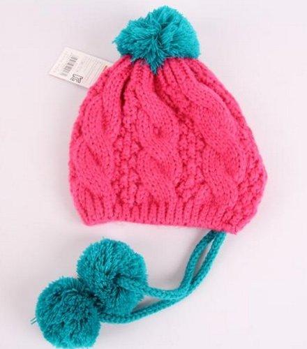 Winter Warm Cute Baby Infant Kids Girls Caps Twist braid hat,yellow