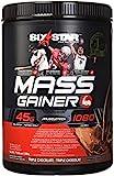 Six Star mass gainer powder, chocolate, 4 pound