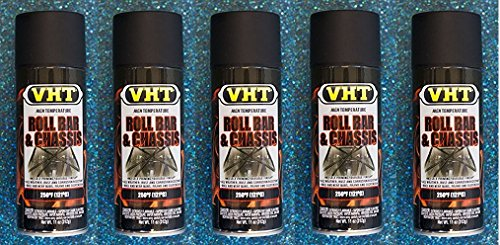 Dupli-Color® VHT SP671 Roll Bar & Chassis Paint Satin Black High Temp 11 oz (5)