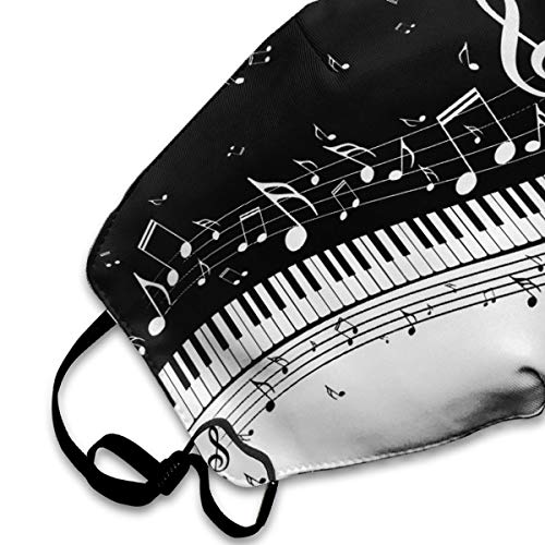 Abstract Piano Keys Musical Notes Mouth Mask Face Mask For Men And Women Anti Pollution Half Face Mask Washable Reusable Muffle Mask For Running Cycling Camping Travel